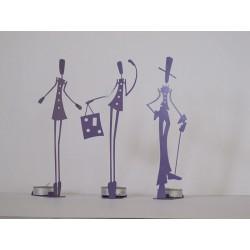 Trio de Figurines Bougeoir