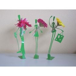Trio de Figurines Soliflores