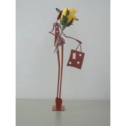 Figurine femme soliflore