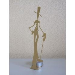Figurine bougeoir homme